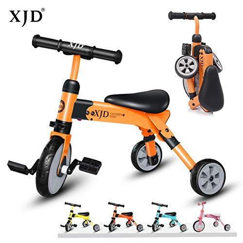XJD 2 IN 1 Multi Dreirad Laufrad für 2-4 Jahre Alt (Orange)