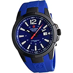 Swiss Alpine Military by Grovana Reloj de hombre azul 7058.1875 10 ATM Swiss Made