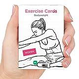 ÜBUNGSKARTEN von WorkoutLabs: Premium Körpergewichtsübungs-Karten - # 1 Bestseller Wasserdichte Fitness-Karten für Workouts zu Hause ohne Ausrüstung (für Frauen auf Englisch)