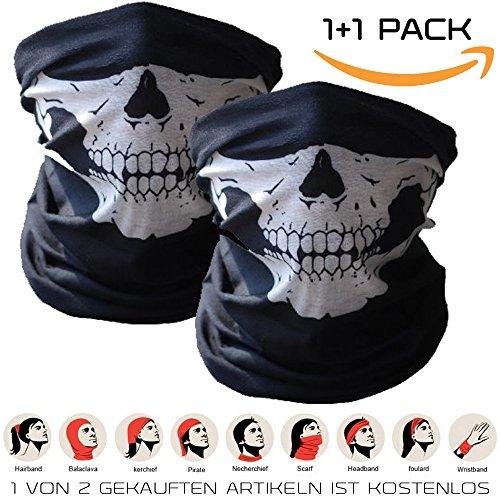 11-Premium-Multifunktionstuch-Sturmmaske-Bandana-Schlauchtuch-Halstuch-mit-Totenkopf-Skelettmasken-fr-Motorrad-Fahrrad-Ski-Paintball-Gamer-Karneval-Kostm-Skull-Maske