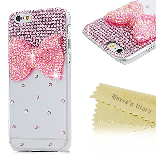 iphone-6s-case-iphone-6-cover-47-inches-maviss-diary-bling-glitter-pink-diamonds-gems-bow-crystal-cl