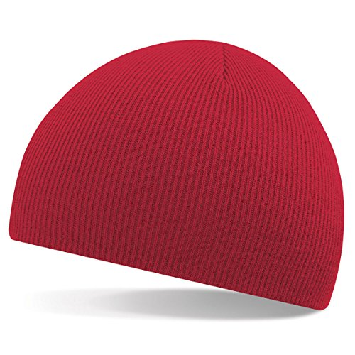 Beechfield Bonnet en tricot rouge - Classic Red