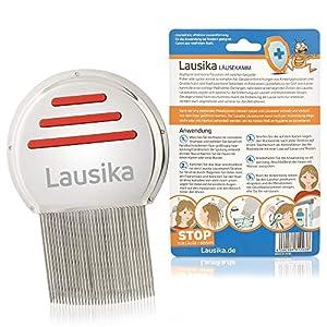 Nissenkamm Lausika, Metall Läusekamm mit extra engstehenden Zinken. Für Kinder und Erwachsene bei Kopfläusen und Nissen. …