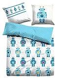 TOM TAILOR Unisex Heimtextilien & Bettware Bettwäsche mit Roboter-Motiven Jeans, 135/200