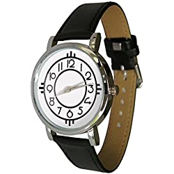 Art Nouveau design watch. Genuine Leather Strap