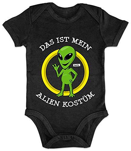 HARIZ Baby Body Kurzarm Das Ist Mein Alien Kostüm Karneval Kostüm Plus Geschenkkarte Pinguin Schwarz 3-6 Monate