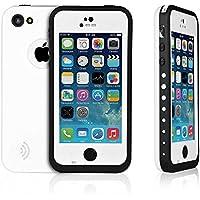 Redpepper Waterproof - Carcasa sumergible protectora y estanca para iPhone 5C - Blanco