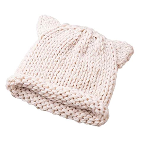 Babybekleidung Hüte & Mützen Longra Baby Süß Winter Kinder Baby gestrickt Wolle niedlichen Hut Hüte Mütze (12-48 Monate) (Beige)