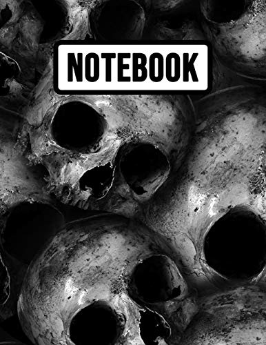 Notebook: Big 300 page Skull Journal / Sketchbook, A4 Extra Large for Business, School And Daily Use (College Ruled, 8,5