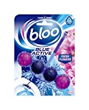Bloo Bleu Active Toilettes RIM Bloquer, 50g, fleurs, étui de 10