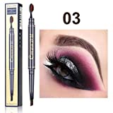 ' Double-head-brush-eyebrow-pen, Lasting-waterproof-not-blooming-easy-to-color, Makeup-eye-shadow, Powder-palette-matte-eyeshadow-cosmetic-vacations-gift (c)