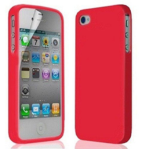 Great Deals on Click Sales, IPhone di Apple 4 4G 4S, orange, Gel molle del silicone di, Case, Cover, Copertura, Custodia, gomma flessibile della copertura della pelle della CASSA del SACCHETTO + PEN S rosso