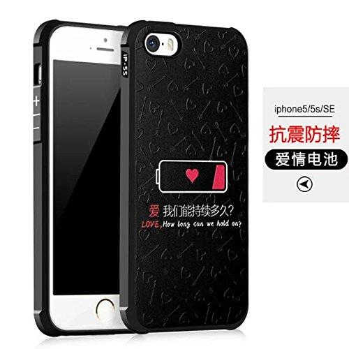 Wkae IPhone SE Case, geprägte Malerei Premium-Qualität Kante inklusive Schutz Shockproof Ultra-dünne weiche TPU Rückseitige Abdeckung Für IPhone SE / iPhone 5 / iPhone 5S ( Color : 4 ) 2