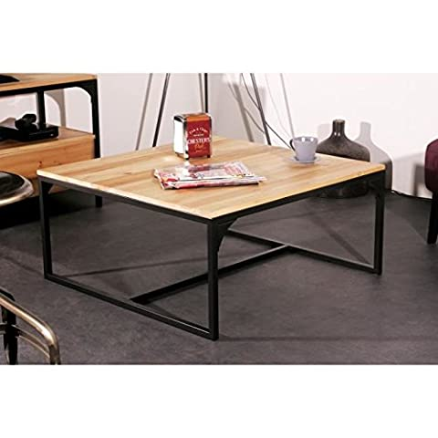Table Basse Metal - FINLANDEK Table basse carrée TEOLLINEN 80x80 cm