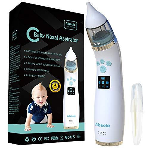 Aspirador Nasal Eléctrico Recargable USB para Bebés - Limpiador de Nariz para Recién Nacidos y Niños...