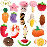 Y-Step Plush Vocal Dog toy-16 Pcs Durable Pet Puppy Chew Toy Set for Small Medium Large Dogs