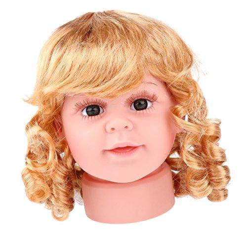 F Fityle Kinder Mädchen Kopf Modell Schaufensterpuppe Mannequin Modellpuppe Kopf-Modell für Sonnenbrillen Make-Up Tattoo Kappen Anzeigen Größe - S