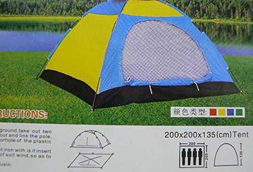 Tenda igloo stile da 5/6 posti (220x200x135) stoffa bi_colore assortito - tenda omologata 6 posti stile canadese ideale per campeggio mare viaggio camping spiaggia - compresa comoda valigette in stoffa dalle dimenzioni ridottissime: cm. 60 x 12