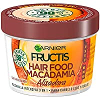 Fructis mascarilla intensiva hair food macadamia alisadora para cabello seco y rebelde 390ml.