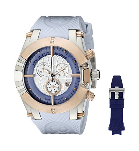 De la Mujer de Mulco MW5–3069–423Kripton Snap azul de cuarzo analógica Swiss reloj
