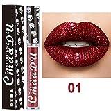 AMUSTER Waterproof Rouge à Lèvres Baume à lèvres liquide Crème hydratante Velvet Matte Lipstick Maquillage Beauté Maquillage (A)