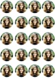 20 pre-cut Beyonce edible cup cake Topper decorations by Topped Off