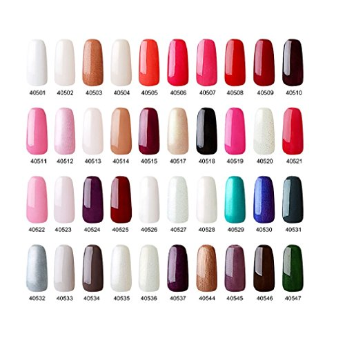 Elite99 Kit de Esmalte de Uña de Gel Polish Color + Base Coat Top Coat 3 pcs Semipermanente Soak Off UV LED Manicura Arte 7.3ml  C024