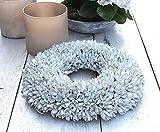 Homeclassics weiß Shabby Blüten Kranz altweiß Türkranz Wandkranz Ø 40 cm Naturkranz Landhaus
