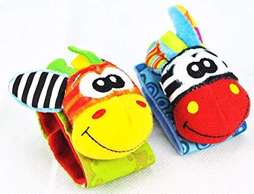 Funmazit Baby Rasseln Toys Unisex Animal Developmental Toys Armbänder für Kleinkinder -
