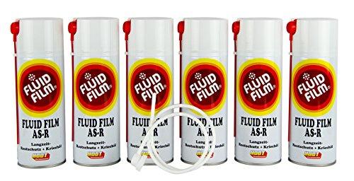 6x FLUID FILM AS-R Rostschutz Korrosionsschutz Hohlraumversiegelung Rostschutzmittel Korrissionsschutzmittel Hohlraumkonservierung 400 ml & Sonde (Filmes)