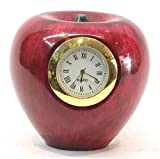 #9: MERCHANT CRAFTS PURE MARBLE APPLE CLOCK AND PAPER WEIGHT STANDARD SIZE 4