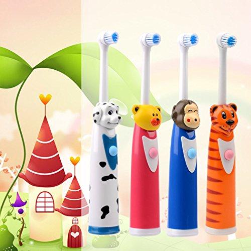 inkint Rotierend Kinder Elektrische Zahnbürste ABS+Silikon Wasserdicht Kids Zahnpflege Cartoon Massage Elektrische Zahnbürste für Erwachsen/Kinder Universal Zahn Beauty Werkzeug