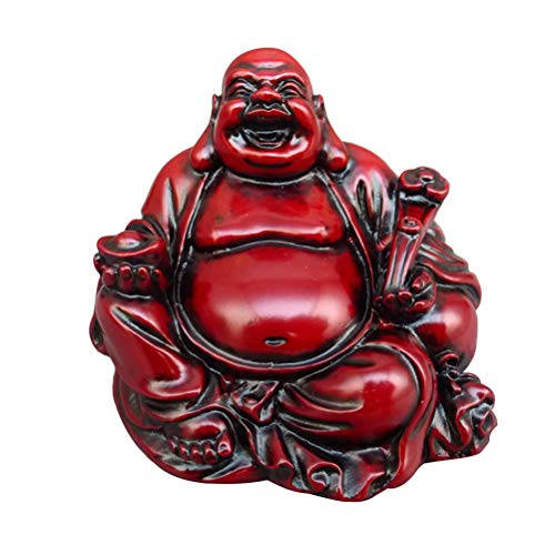 Vosarea Resina Riendo Buda Maitreya Estatua de Buda Fengshui Estatuilla Adorno Artesanal Decoración para el hogar
