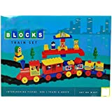 Grab Offers Kinder Blocks Train Set - Interlocking Architectural Set For Kids.(Multicolor)
