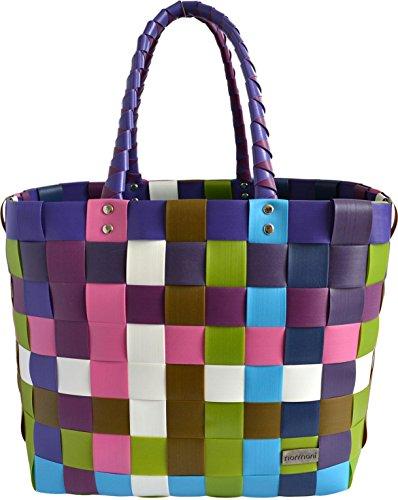 Einkaufstasche geflochten mit Henkeln - Tragetasche extra robust Farbe Classic / Sweet (Geflochtene Tasche)
