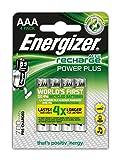 Energizer NimH-Akku Rechargeable Power Plus Micro (1,2Volt 700mAh, vorgeladen 4er-Packung)