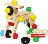 Toys of Wood Oxford Dadi e Viti in Legno - Set di Blocchi con 30 Pezzi di Costruzione in Legno - Costruzioni di Giocattoli in Legno per Bambini