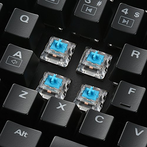 Sharkoon Skiller Mech SGK1 Mechanische Gaming Tastatur für PC (mit weißer Beleuchtung) blue - 4