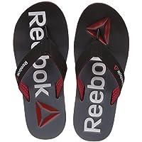 Reebok Men's Embossed Flip Black, Flat Grey, Red and Wht Flip-Flops and House Slippers - 9 UK/India (43 EU) (10 US)