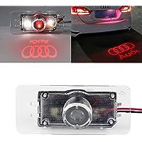 EZYKOO AT-AUDILPPL Targa Auto Luce LED Logo Proiettore Fantasma Rosso