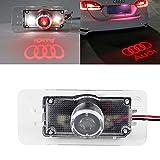 Automobile Emergency Kit Best Deals - ezykoo Logo Plaque Immatriculation Voiture LED Projecteur laser Ghost Ombre Lampe Pour Audi-Rouge