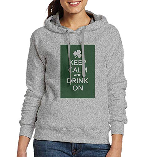 Sweatshirts for Women Keep Calm Drink On for Women Womens Hoodies