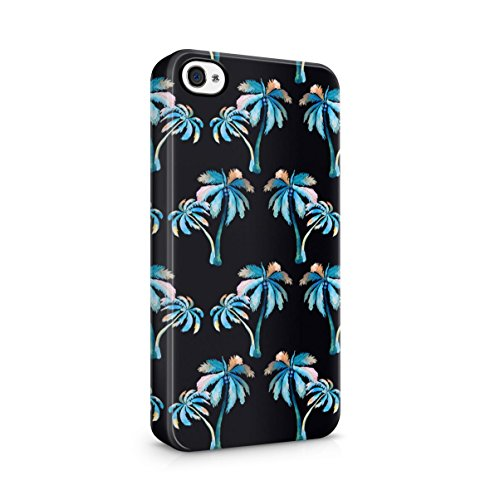 Palm Trees Good Vibes Only Pink Pastel Hipster Summer Pattern Tumblr Apple iPhone 5 , iPhone 5S , iPhone SE Snap-On Hard Plastic Protective Shell Case Cover Custodia Watercolor Coconut