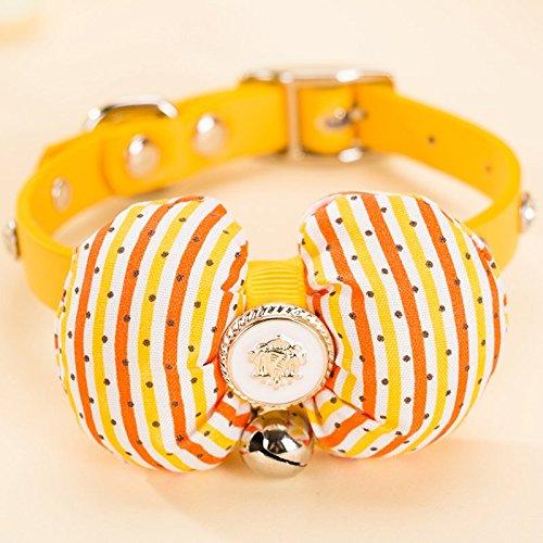 Cute BOW Krawatte Katze Hund Halsbänder Halskette Bell (070 Bell)