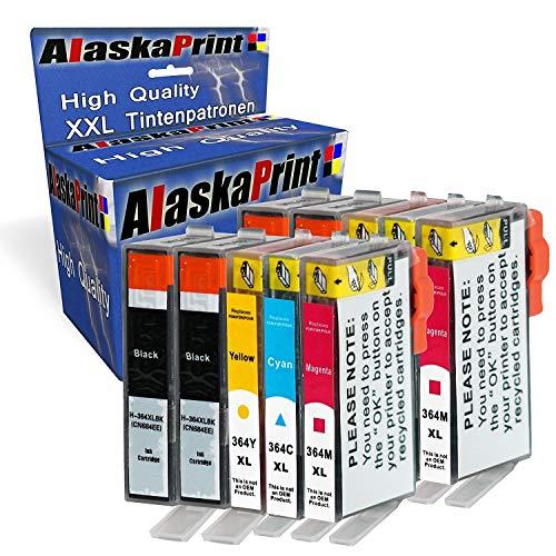 Alaskaprint 10x Druckerpatronen mit Chip Kompatibel zu HP 364 für HP Photosmart 5510 5511 5512 5514 5515 5520 5522 5524 6510 6520 6512 6515 7510 7520 7515 B8550 -