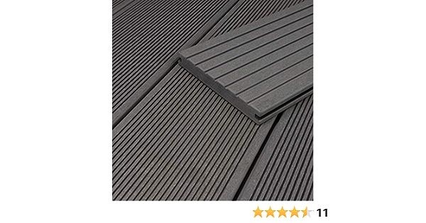 HORI/® WPC-Terrassendiele Grau Massivdiele I Komplettset inkl 5 m/² I 2,90 m Dielenl/änge 40x60 mm Unterkonstruktion /& Clips I Fl/äche