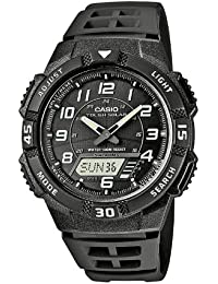 Casio Collection - Herren-Armbanduhr mit Analog/Digital-Display und Resin-Armband - AQ-S800W-1BVEF