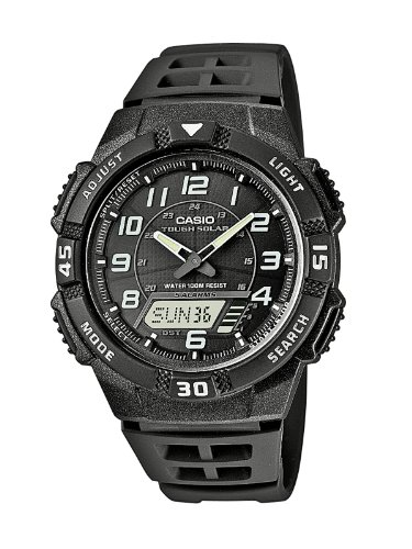 Casio Collection – Herren-Armbanduhr mit Analog/Digital-Display und Resin-Armband – AQ-S800W-1BVEF