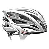 zero rh+, Casco bici per lo sport ed il tempo libero ZW, EHX6050-03-L, 58-61 cm, colore bianco-argento