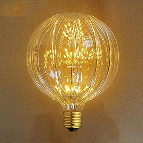 Dekorative Glühbirne, xinrong 220V AC 3W E27LED Sternenhimmel Edison Kürbis G150Leuchtmittel 2200K Feuerwerk Home Decor Christmas Lights (Fluorescent Hanging Outdoor-wand)